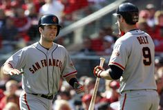 Buster Posey and Brandon Belt.
