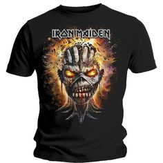 e1e728d452 2017 Summer Men'S Brand Clothing O-Neck Dress Iron Maiden T Shirt Book Of  Souls Eddie Exploding Head Official Mens Black