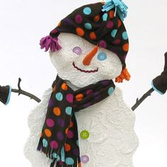 This adorable snowman holder creates a helpful place to keep scarves, mittens, hats and gloves. Bringing this snowman to life is simple with X-ACTO Crafters! Winter Crafts For Kids, Winter Kids, Cute Snowman, Mittens, Arts And Crafts, Crochet Hats, Projects, Fingerless Mitts, Knitting Hats