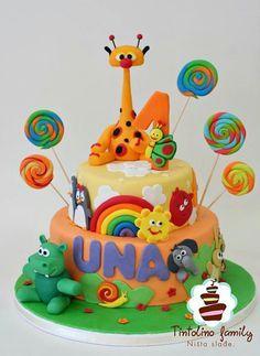 baby tv - Buscar con Google Safari Birthday Cakes, 1st Birthday Cakes, Baby Girl Birthday, Baby Tv Cake, Baby Bash, Friends Cake, Cake Decorating For Beginners, Cakes For Boys, Celebration Cakes