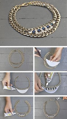DIY Gem Statement Necklace
