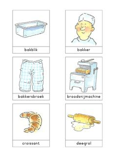 Woordkaarten Bas 'De bakkerij' 1