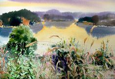 여백을 즐기는 수채화의 대가 [신종식] 화가 : 네이버 블로그 Watercolor Landscape, Watercolor And Ink, Watercolor Lesson, Korean Art, Arts And Crafts, Plants, Painting, Outdoor, Watercolors