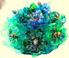 Chihuly Inspired Cake Topper  wedding tabletop by ArtePlastique, $100.00