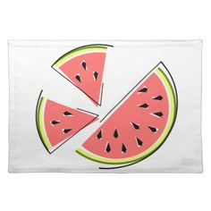 #stylish - #Watermelon Pieces placemat cloth