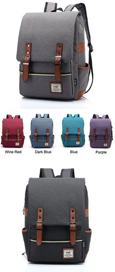9f82abc3a3 Vintage Canvas Travel Backpack Leisure Backpack Schoolbag