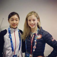 Yuna Kim and Gracie Gold at 2014 Sochi Olympics