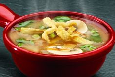 Asian Ginger Broth. Add your own combo of veggies and tofu.  Had it. Loved it. Making it!