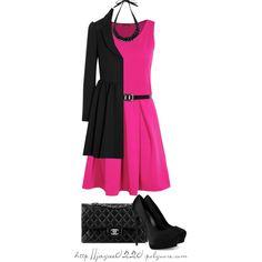 """Classy Winter Pink"" by jaycee0220 on Polyvore"