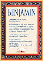 Origen y significado de Benjamín