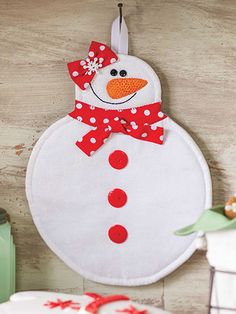 Easy to Sew Snowman Sewing snow women hot pad sewing pattern