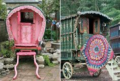 Great. Now I want a gypsy wagon in the backyard. :)