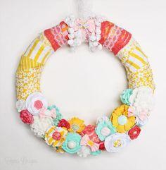 Bright and Fun Spring Wreath