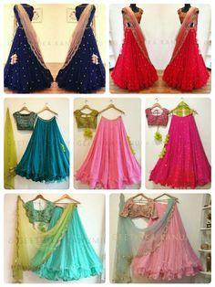 Lehenga Designs Simple, Simple Lehenga, Half Saree Designs, Choli Designs, Plain Lehenga, Kurta Designs, Fancy Dress Design, Stylish Dress Designs, Stylish Dresses