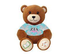 """Zeta Tau Alpha """"Legacy"""" Bluetooth music-playing teddy bear VictoryTeddyBear http://www.amazon.com/dp/B00SA4NXXO/ref=cm_sw_r_pi_dp_ocY8vb110JP1W"""