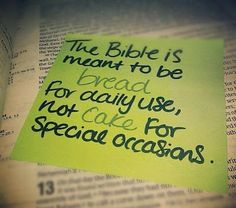 The Bible is meant to be bread for daily use ... | Christian Funny Pictures - A time to laugh