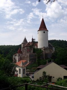 Křivoklát Castle in Central Bohemia, Czech Republic:  The castle was founded in the 12th century and belonged to Bohemian kings.  Fire damaged the castle so many times, it was turned into a prison.  During the 19th century, new owners reconstructed the castle.  It is now a museum, tourist destination and a place of theatrical exhibitions.  (by anch_jm).