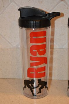 PERSONALIZED Wrestling Sports Water Bottle 16 by theroyalprincess