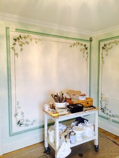 Work in progress 2014 - Gustavian walldecoration