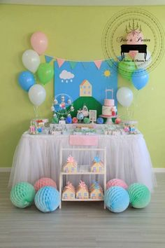 Fiesta infantil con tema de peppa pig http://tutusparafiestas.com/fiesta-infantil-tema-peppa-pig/ Children's party with peppa pig theme #Fiestadepeppapig #Fiestainfantilcontemadepeppapig #Fiestainfantildepeppapig #Fiestasinfantilestematicas #Ideasparafiestas #Peppapig #Tematicasparafiestasdeunañoparaniña #Tematicasparafiestasinfantiles