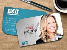 Unique Exit Realty Card Design #exitrealty #unique #businesscard #businesscardtemplate #realtor