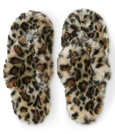 Leopard Print Dorm Slipper