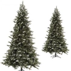 Artificial Christmas Tree 4.5 Frosted Snowy Glitter Holiday Balsam Fir w/ Stand  #Vickerman #DanAnnStore