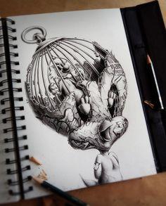Distroy - des personnages de dessins animés en version obscure par Pez - http://www.dessein-de-dessin.com/distroy-des-personnages-de-dessins-animes-en-version-obscure-par-pez/