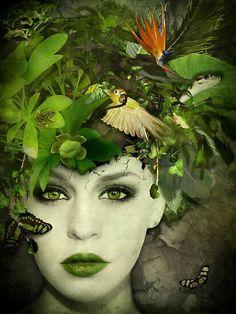 Foto Fantasy, Fantasy Art, Foto Fashion, Green Photo, Foto Art, Fantasy Makeup, Gothic Makeup, Green Fashion, Faeries