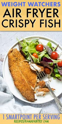 Recipes Fish Crispy Golden Air Fryer Fish is perfectly crunchy on the outside and delightfully light and flaky on the inside. Full of zesty Cajun flavours, this is just the thing to serve for a healthy lunch! Click through to get this awesome recipe! Air Fryer Fish Recipes, Air Fry Recipes, Air Fryer Dinner Recipes, Ww Recipes, Lunch Recipes, Appetizer Recipes, Healthy Recipes, Fish In Air Fryer, Seafood Recipes