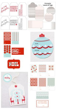 Inspiration: Sweet And Cute DIY Christmas Tags
