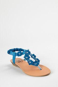 Cute flowery sandals