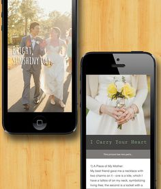 Document Your Wedding Story using Jux - looks & feels beautiful on desktops, ipads and iphones. Like your own fancy ipad mag!