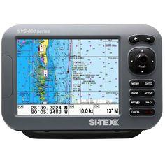 """SI-TEX SVS-880C 8"""" Chartplotter w/Internal GPS Antenna & Navionics+ Card"""
