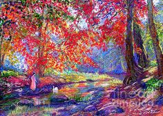 River Of Life painting by Jane Small.