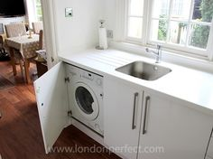 washer dryer under sink - Google Search