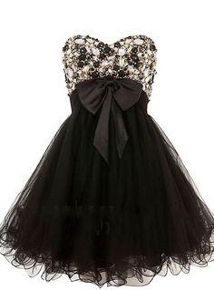 Short Black Evening Dress/Short Prom Dress Black/Beaded Cocktail Dress/Party Dress/Homecoming/Graduation/Little Black Dress/2014 New/Custom on Etsy, $149.99