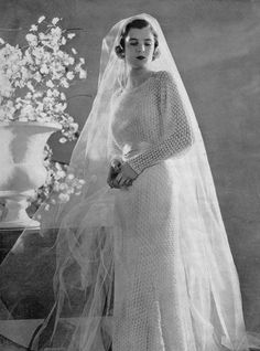 Vintage Wedding Gown Knitting Pattern 1930s