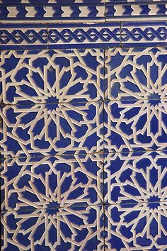 Moroccan tiles, combine this with a Parador fabric in blue, pink or neutral colourways.
