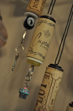 I want to make a wine cork ornament with special wine corks, ie: cork from wedding night, special celebrations and stuff with charms on it to represent it :)