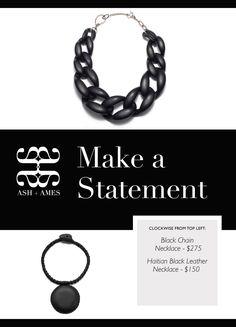 #blackchainnecklace #leathernecklace #ashandames