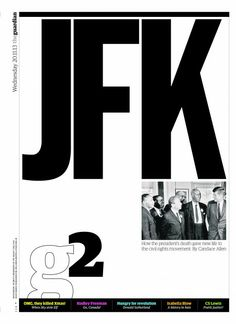 G2 cover: How JFK's death gave new life to the civil rights movement