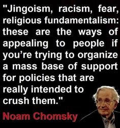 Chomsky on appealing to the dark underbelly