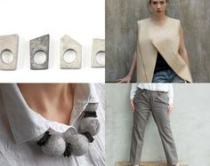 White by Maria on Etsy featuring concrete jewelry - geometric architectural concrete ring by shooohsJewelry