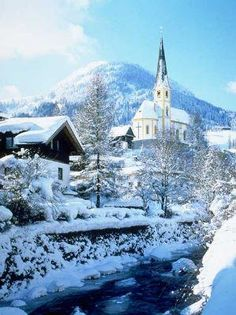 Kirchberg, Austria - where I learned to ski