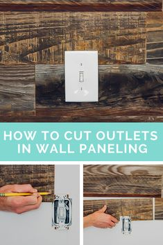 Learn how to cut wood paneling to fit electrical outlets.