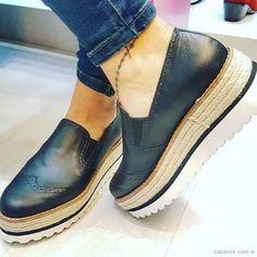 panchas de cuero con base de yute primavera verano 2018 - Las Boleras | Zapalook - Moda en Zapatos 2018