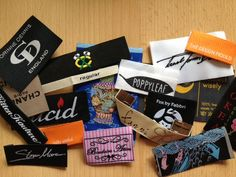 We can custom perfect designer clothing labels to suit your exact specifications from size, colour, shape, images and text to perfectly compliment your brand image and the garments themselves. #WovenClothingLabels, #DesignerClothingLabels, #GarmentLabels