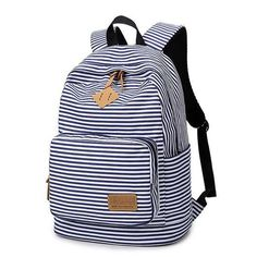 High Quality Women Canvas Backpacks Stripe Bags School Bag College Designer Female Backpack Preppy Style Bolsas Mochilas XJ251