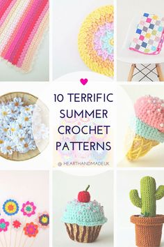 10 Terrific summer crochet patterns! Click through to see the whole list